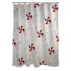 One Bella Casa Peppermint Swirls Shower Curtain