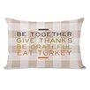 One Bella Casa Eat Turkey Plaid Lumbar Pillow