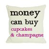 One Bella Casa Money Can't Buy/Can Buy Reversible Throw Pillow