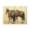 Gizaun Art Signature 1 Saddle Up  Full Color Cedar Wall Art