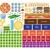 Mona Melisa Designs Educational Peel, Play and Learn Fractions Wall Play Set