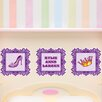 Mona Melisa Designs 3 Piece Fancy Picture Frame Wall Decal