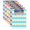 Bazic Bazic Chevron Paperboard Clipboard 6 Pack