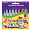 Bazic 8 Color Scented Jumbo Watercolor Marker Set