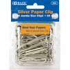 Bazic Jumbo (50mm) Silver Paper Clip Set