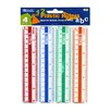 "Bazic 6"" Plastic Ruler (Set of 4)"
