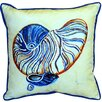 Betsy Drake Interiors Nautilus Indoor Outdoor Euro Pillow