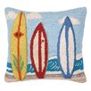 Peking Handicraft Nautical Hook Surf Boards Throw Pillow