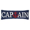 Peking Handicraft Nautical Hook Captain Anchor Wool Lumbar Pillow