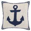 Peking Handicraft Nautical Hook Anchor Throw Pillow