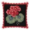 Peking Handicraft Geranium II Hook Wool Throw Pillow