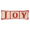 Peking Handicraft Joy Christmas Blocks Hook Wool Throw Pillow
