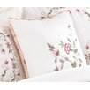 Peking Handicraft Modern Heirloom Claire Embroidered Decorative Cotton Throw Pillow