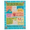 Glory Haus Beach Rules Textual Art on Canvas