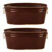 WaldImports 2 Piece Oval Pot Planter Set (Set of 2)