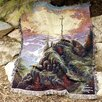 Manual Woodworkers & Weavers Sunrise Verse Tapestry Cotton Throw