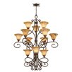 Kalco Amelie 12 Light Candle Chandelier