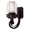 Kalco Newport 1 Light Wall Sconce with Glass Shade