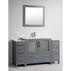 "Legion Furniture 60"" Single Solid Wood Bathroom Vanity Set with Mirror"