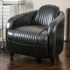 NFusion Manado Channeled Leather Club Chair