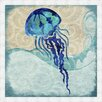 Ashton Wall Décor LLC Jellyfish Framed Painting Print
