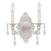 Crystorama Sutton 2 Light Elements Crystal Wall Sconce