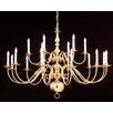 Crystorama Essex House 18 Light Candle Chandelier