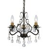 Crystorama Fillmore 3 Light Candle Chandelier