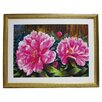 Alpine Art and Mirror Premier Blooming Peony Framed Painting Print