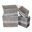 White x White Swedish 4 Piece Storage Basket Set