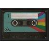 The Artwork Factory Cassette Tape Blank Framed Graphic Art