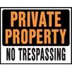"Hy-Ko 15"" x 19"" Plastic Private Property No Trespassing Sign (Set of 5)"