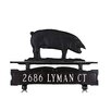 Montague Metal Products Inc. One Line Mailbox Sign with Pig