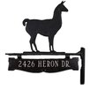 Montague Metal Products Inc. One Line Post Sign with Llama