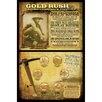 American Coin Treasures Gold Rush Collection Wall Framed Vintage Advertisement