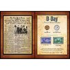 American Coin Treasures New York Times D Day Coin and Stamp Collection Wall Framed Memorabilia