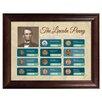 American Coin Treasures The Lincoln Penny Historical Chronological Highlight Framed Memorabilia