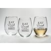 "Kate Aspen ""Eat, Drink and Be Married"" Stemless Wine Glass (Set of 12)"