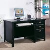 kathy ireland Home by Martin Furniture Tribeca Loft Single Pedestal Computer Desk