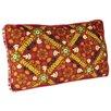 Karma Living Mattress Embroidery Vintage Cloth Lumbar Pillow (Set of 2)