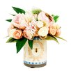 Creative Displays, Inc. Spring Additions Peony and Ranunculus Decoupage Pot