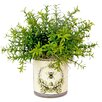 Creative Displays, Inc. Small Leaf Feather Plant in Bee Motif Pot