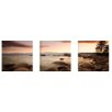 Artistic Bliss Sunset at Cove 3 Piece Photographic Print Set