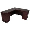 OfficeSource Brunswick L Shape Executive Desk with File Drawer