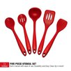 GGI International Sorbus® 5 Piece Silicone Kitchen Utensil Set
