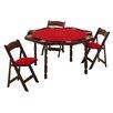 "Kestell Furniture 57"" Maple Period Style Folding Poker Table Set"