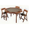 "Kestell Furniture 52"" Maple Contemporary Folding Poker Table Set"