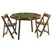 "Kestell Furniture 46"" Oak Compact Folding Poker Table Set"