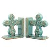 CKK Home Décor, LP Accents of Faith Baroque Cross Ceramic Bookends (Set of 2)
