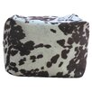 Fox Hill Trading Premiere Home Cowhide Pouf Footstool Ottoman
